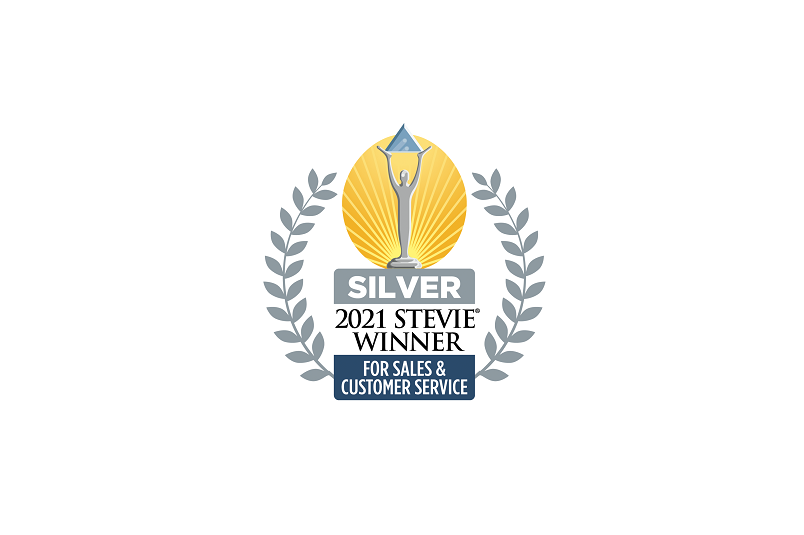 2021 Silver Stevie Award for Sales and Customer Service